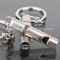 Fashion Jewelry Cool Metal Whistle Keychain Lovers Valentine's Day Gift