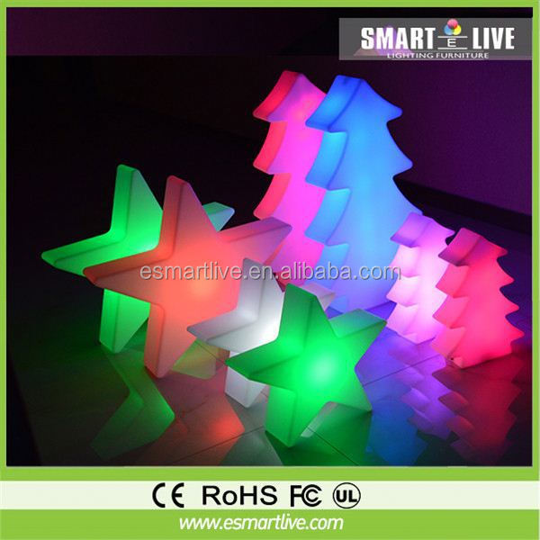 High Quality Star On Top Decorative LED Lights Potted Optic FIber Xmas Tree