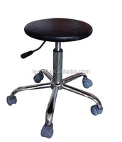 Antistatic lab round stool with Footring