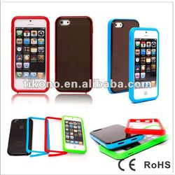 silicone and PC case for iphone5 ,new design for iphone5 cover