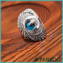 Sterling Silver Fashion Creative Men's Turquoise Rings