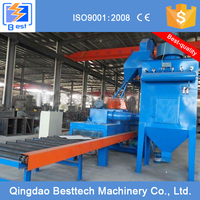 The road stone shot blasting machine with roller conveyor
