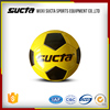 Yellow PVC leather cover recreational soccer ball SF1000Series