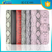 Manufacturer Wholesale High Quality snake skin pattern PU Leather Flip Mobile Phone Cover