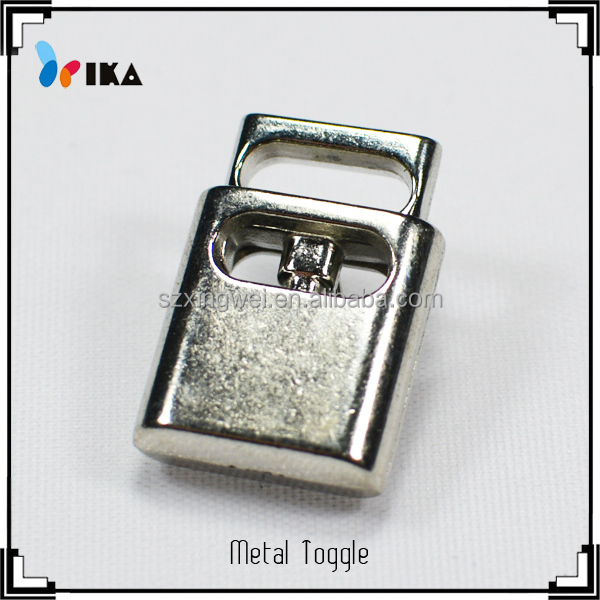 wholesale silver metal zinc alloy spring cord stopper