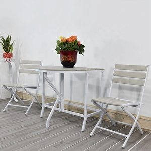 Outdoor chair aluminum powder coated garden chairs table