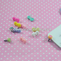 Guangzhou factory made Cute orange phone earplugs,earphone dust cap plug,dust cap dust plug