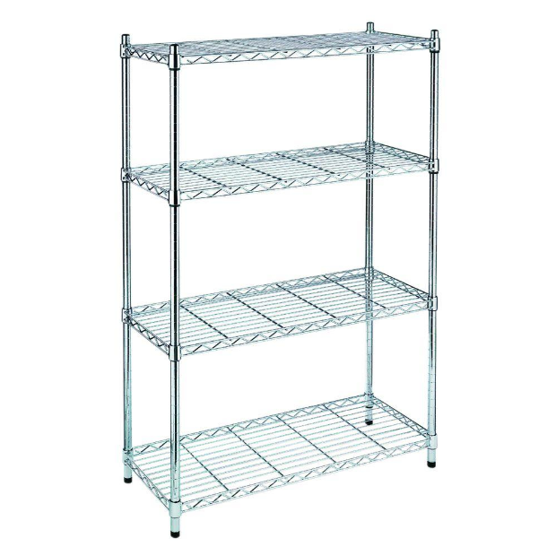 chrome wire showing shelf / Chrome Wire Shelf
