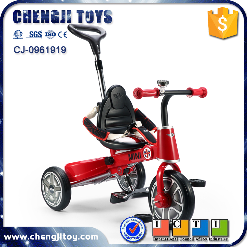 3 wheels ride on foot pedal toy car folding tricycle bicycle for child
