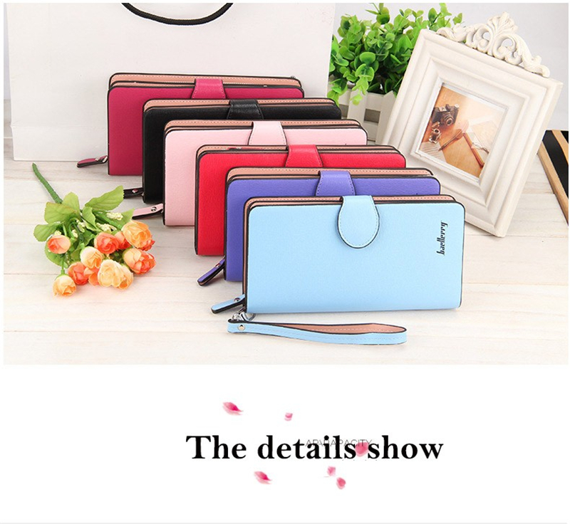 2016 Baellerry New Women Wallet Leather Long Ladies Money Bags Girl Purse