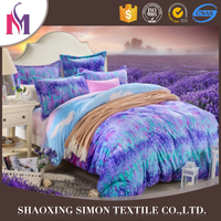 2016 Latest 100 polyester microfiber fabric bedding sheet wholesale cheap hotel bed linens