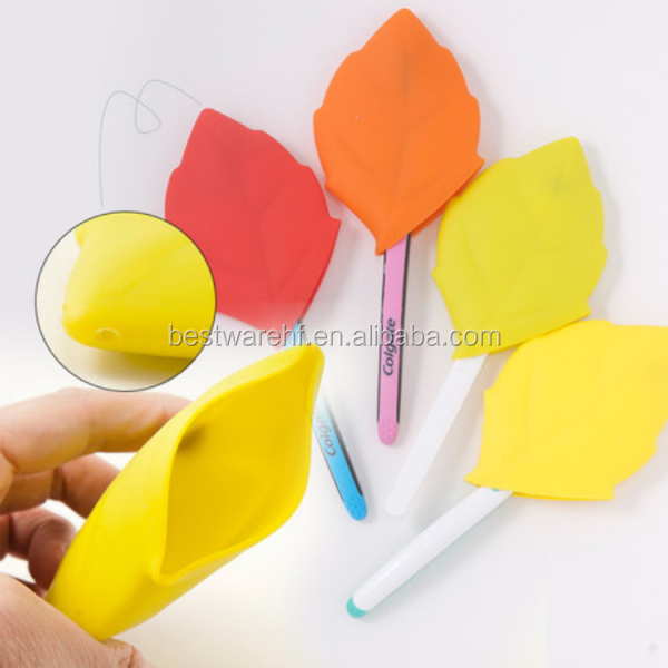 food grade silicone pocket cup areca leaf shape silicone cups