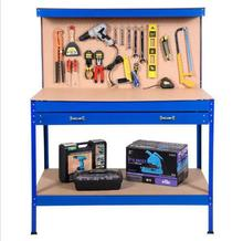 folding garage Powder Coated Work bench with bench vice