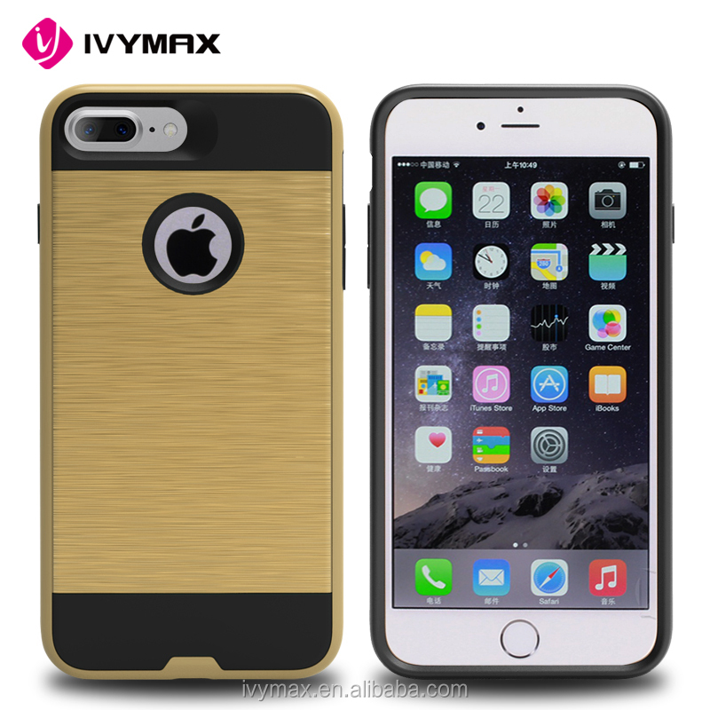 hot mobile case for 2016 anti-shock 2 in 1 phone case for apple iphone7 plus
