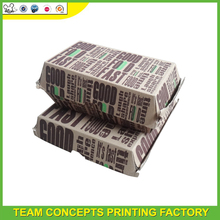 Fast Food Hamburger or Sandwich Packaging Use Paper Box