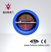 PN10/16 Cast Iron Dual Plate Wafer Check Valve With Stainless Steel Spring Loaded