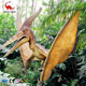 dinosaur park artificial interaction life size animatronic flying pterodactyl dinosaur