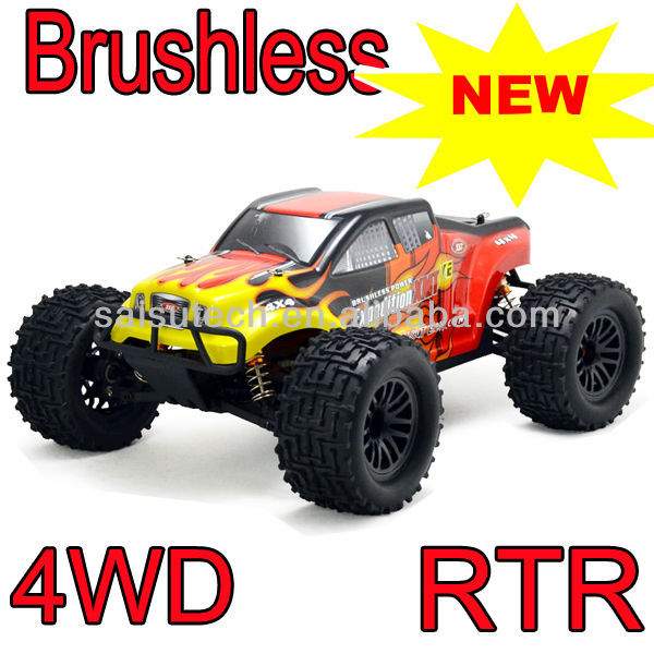 new 4x4 rc trucks for sale 1/10 scale full time 4wd off road electric brushless motor rc cars electrical car