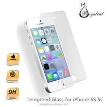 Free Sample 0.26mm Premium Real Front+Back Tempered Glass Film Screen Protector For iPhone 5 5s