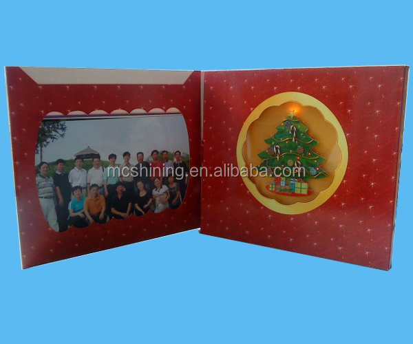 latest style christmas tree led picture photo frame