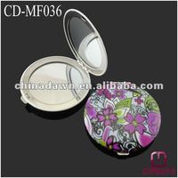 Fashion aluminum compact mirror wholesale CD-MF036