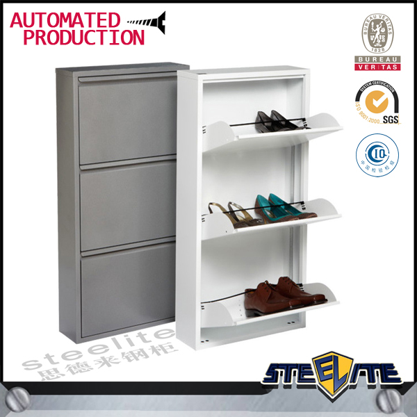 Simple wrought iron shoe rack closed shoe rack metal shoe cabinet