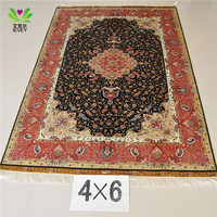 260 Lines 4*6ft Turkish Qum Persian silk factory good quality good design good price carpet/rugs