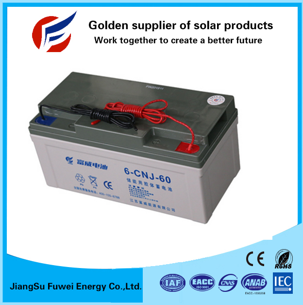 High quality vrla battery 12V 60Ah for home solar systems 10KW complete