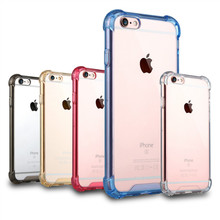 Assorted color design Shockproof transparent clear TPU+PC mobile case/cover for iphone6/6s