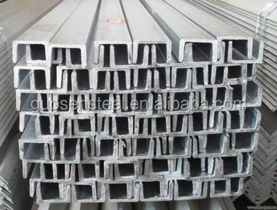 Galvanized U Channel Steel/ Steel U Channel Sizes