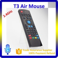2.4G Wireless Keyboard For Android Tv Box Mini T3 Bluetooth Air Mouse In Black