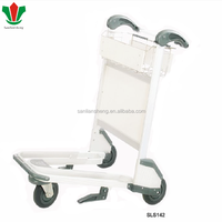 SLS aluminum airport luggage hand trolly with brake