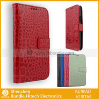 For Samsung i9190 Case,Red Crocodile Skin Leather Case for Samsung Galaxy S4 mini- hibundle1249