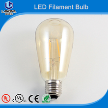 Antique LED Bulb Oak Leaf 4W ST64 Vintage Antique Style Edison Bulb LED Light 2700K SoftWhite E26 (E27) Screw Base