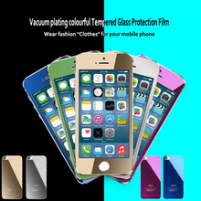 For Iphone4 5 6 High Quality Tempered Glass Screen Protector Color Mirror Tempered Glass For Iphone 6