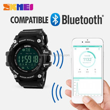 popular bluetooth smart watch instruction manual waterproof skmei 1227 reloj with low price