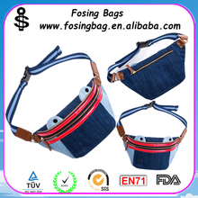 Factory Wholesale female canimal shape denim chest package bag to be customized