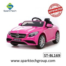 Hottest Selling Licensed Mercedes Benz S63 RC Ride On Car BabyToys, Plastic Baby Cars