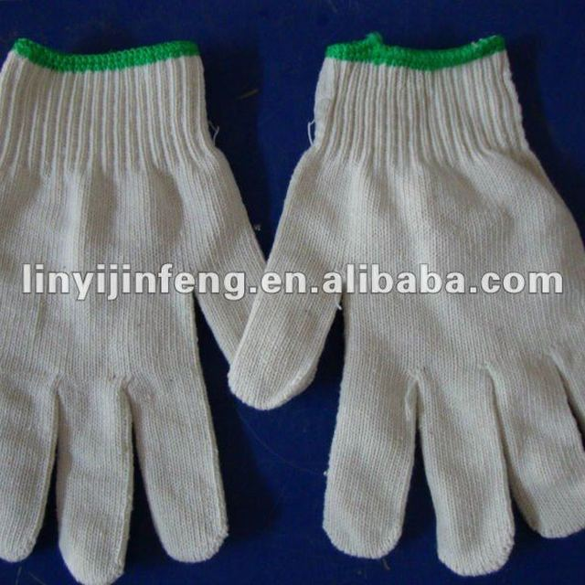 China manufacturer white cotton safety working gloves cheap industrial working gloves