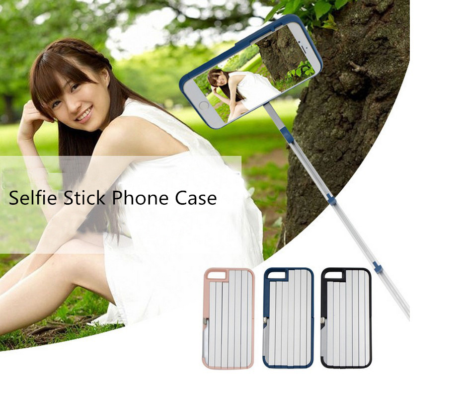 Factory Direct Wholesale Selfie Stick Cell Phone Case Cover For Iphone6plus