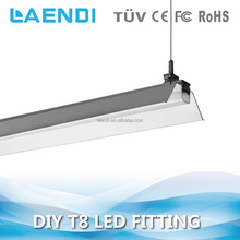 Anti-glare 4000k daylight color 120cm TUV approved led 30w t8 twin tube light fitting with reflector