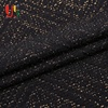 Black jacquard lurex metallic plain dyed jersey knit fabric wholesale