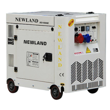 New design 7.5KW 198F diesel engine silent type diesel generator
