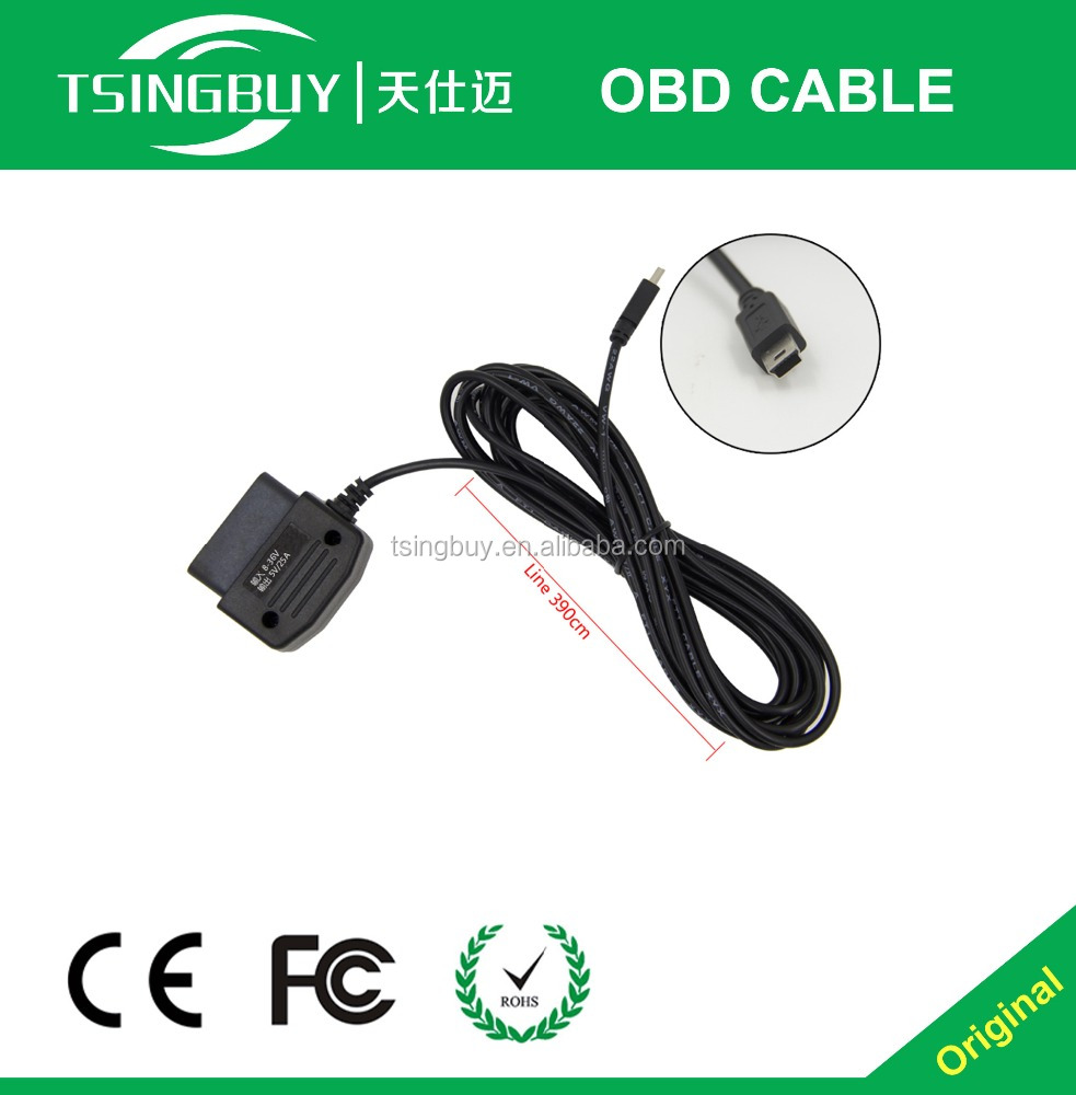 Automatic obd cable 16 pin obd mini usb cable obd micro usb cable