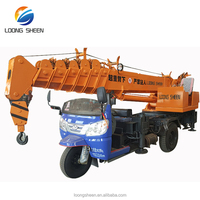 Tractor Type 3 Ton Mini Crane For Rough Terrain Crane LXQY-3