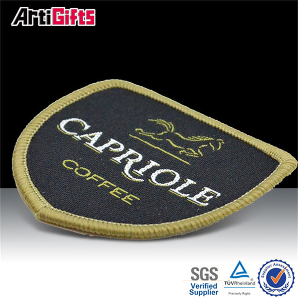 Cheap custom fabric embroidered name crests