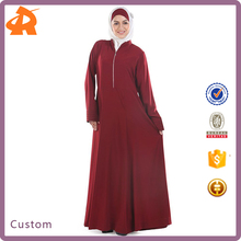 custom make burdundy dubai abaya,new design jersey abaya manufacturer in China