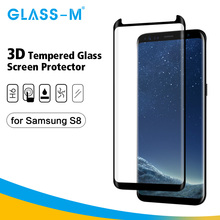 3D Full Cover Scratch Proof Screen Protector Tempered Glass Shield for Samsung S8