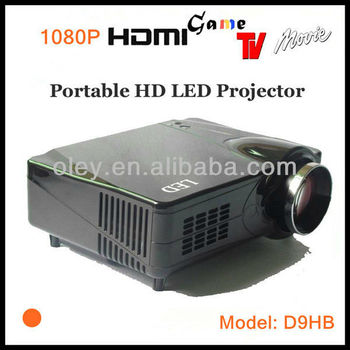 Low noise projector portable projector 1080p built in TV tuner, vga/ AV/ HDMI/ S-Video/ YPbPr ports
