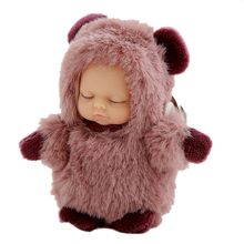 Free sample life-like cute silicone 10cm reborn baby doll for sale